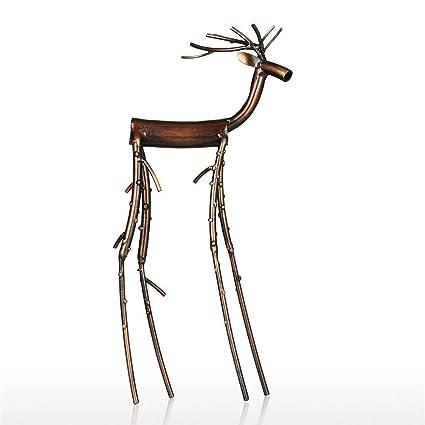 Amazon Com Cenluxer Black Long Leg Moose Figurine Iron Figurine
