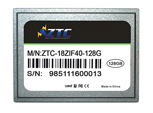 ZTC 128GB Cyclone 40-pin ZIF 1.8-inch PATA SSD Enhanced Solid State Drive Model ZTC-18ZIF40-128G by ZTC