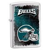 Zippo NFL Eagles Lighter, Silver, 5 1/2 x 3 1/2cm