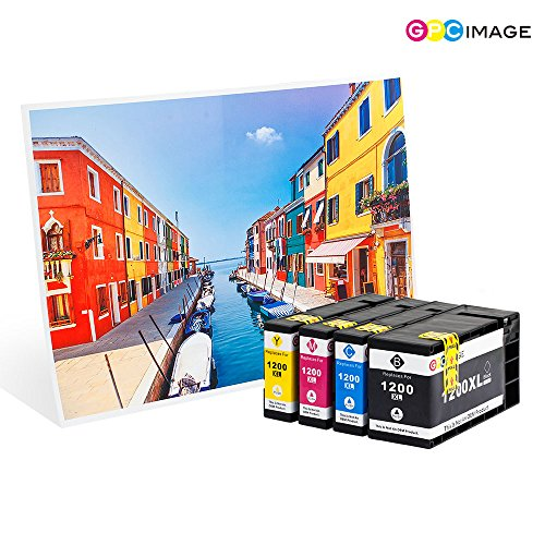 GPC Image 1200XL 5 Pack Compatible Ink Cartridge Replacement for Canon PGI-1200XL PGI-1200 XL for Canon MAXIFY MB2720 MB2320 MB2020 MB2050 MB2350 Printer (2 Black, 1 Cyan, 1 Magenta, 1 Yellow) Photo #9