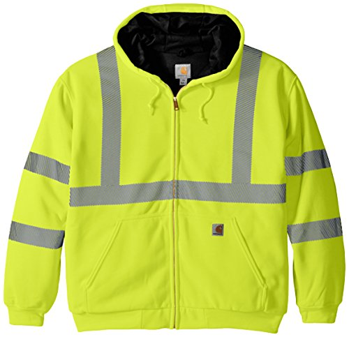 Carhartt Men's Big & Tall High Visibility Class 3 Thermal Sweatshirt,Brite Lime,XXXX-Large