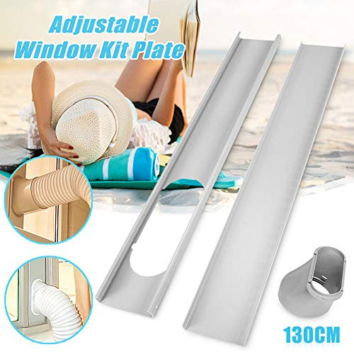 dezirZJjx Window Adapter/Window Kit Plate, 2Pcs Window Slide Kit Plate/6inch Window Adapter for Portable Air Conditioner ()