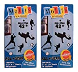 Motifs in a minute Peel & Stick Removable Reusabl Baseball Player Decoration (2 Pack)