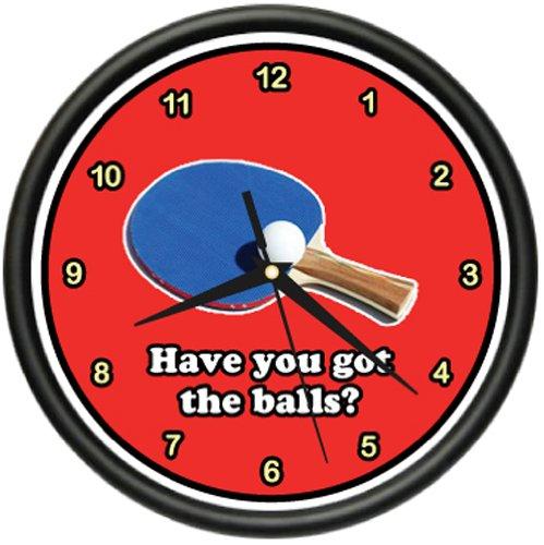TABLE TENNIS Wall Clock ping pong paddles ball game