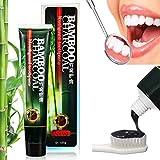 Dentifricio sbiancante | Al Carbone Attivo Dentifricio | BINKBANGBANGDA Professionale Intensiva Per Eliminare Le Macchie Cattivo Respiro E Avere Denti Sbiancati [ Aggiornato ] ( 120G )
