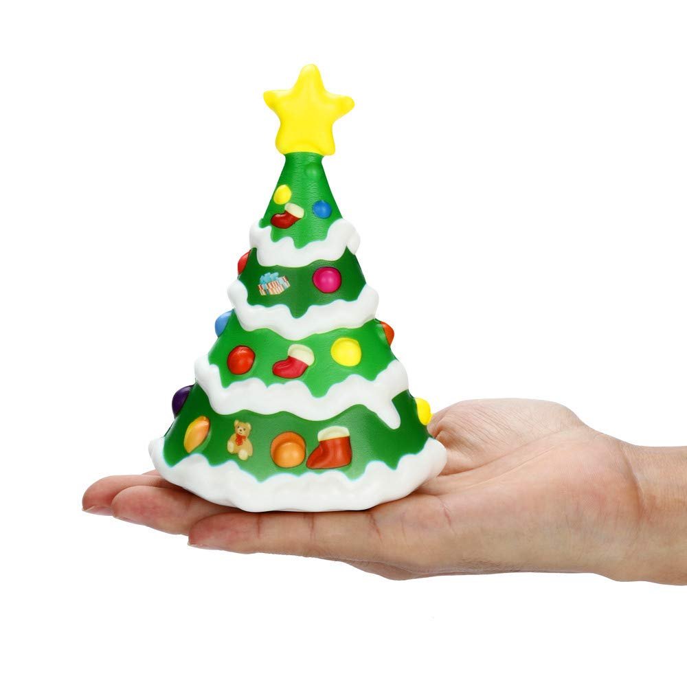 Staron Jumbo Squishies Christmas Tree Slow Rising Kawaii Squishy Charms Exquisite Cute Stress Relief Squishys Toys Xmas Gift for Kids (A)