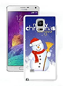 Personalize offerings Christmas Snowman White Samsung Galaxy Note 4 Case 16