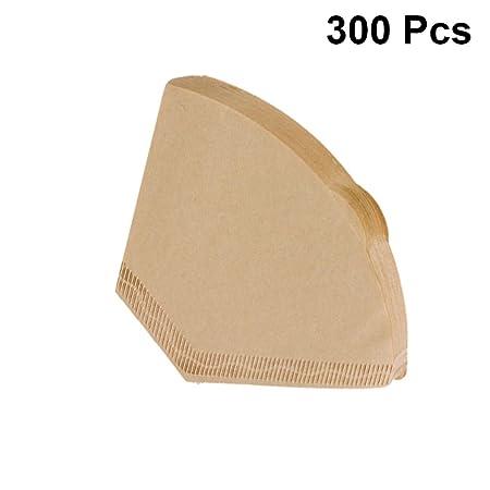 UPKOCH 300pcs papel de filtro de café conos de filtro de café ...