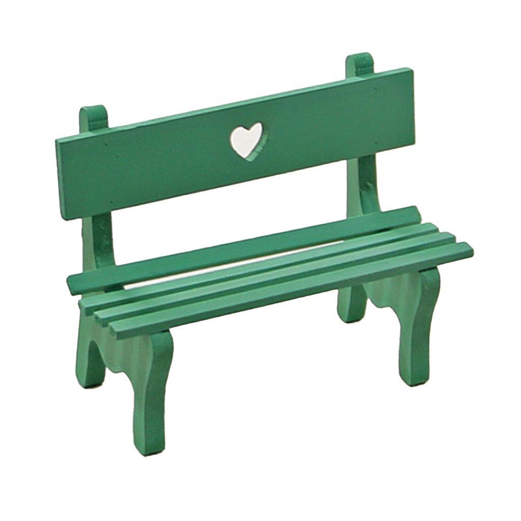 Amazon.de: Sharplace Miniatur Holz Gartenbank Bank für Puppenstube ...