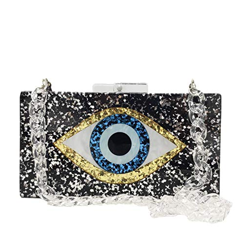 Acrylic Evil Eye Purse Women Box Evening Bags and Clutches Chain Shoulder Crossbody Handbag