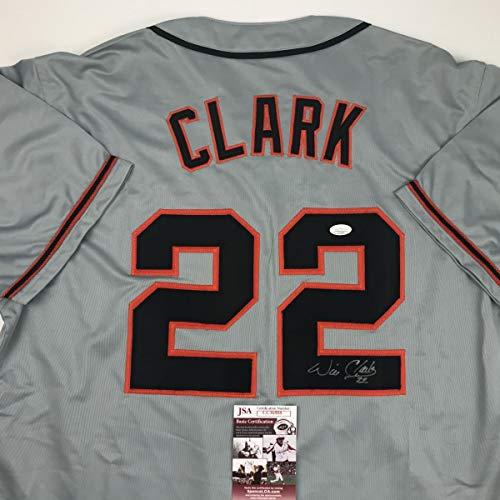 Autographed/Signed Will Clark San Francisco Grey Baseball Jersey JSA COA