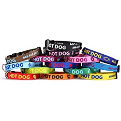 Personalized Dog Collar with Custom Hi-Def Text and Art, An Embroidered Dog Collar Alternative - Available in 5 Sizes
