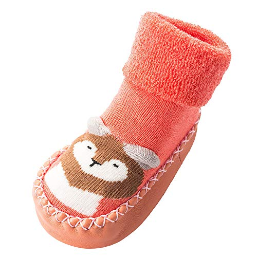 NUWFOR Newborn Baby Boys Girls Cartoon Cute Warm Floor Socks Anti-Slip Baby Step Socks(Pink,6-9Months by NUWFOR (Image #5)