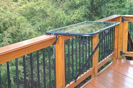 Outdoor Railing Bar For Patio, Deck, Or Balcony | Portable Pop Up Side