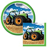 Tractor Time Lunch Napkins & Plates Party Kit for 8