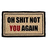 Abbott Funny Doormat Coir Oh Shit, Not You Again Welcome Mat Deal
