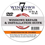Software : Windows 7 ANY Version 64 Bit Operating System Repair, Recovery, Restore, Re Install, Reinstall, Fix, Boot Disk, DVD, Home Premium, Professional, or Ultimate, (DVD-ROM)DVD