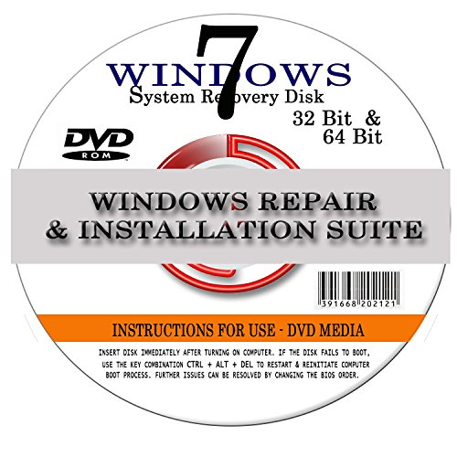 Windows 7 ANY Version 64 Bit Operating System Repair, Recovery, Restore, Re Install, Reinstall, Fix, Boot Disk,...