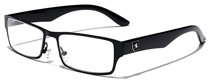 7ffe343233 Amazon.com  Men s Women s Rectangle Clear Lens Sunglasses RX Optical Eye  Glasses  Clothing