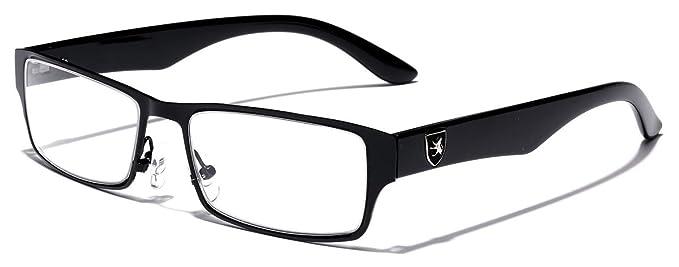 cc09b19524c Amazon.com  Men s Women s Rectangle Clear Lens Sunglasses RX Optical Eye  Glasses  Clothing