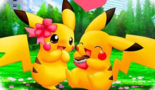 Pikachu in love Pokemon TCG playmat, gamemat 24