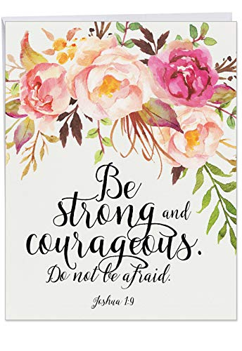 Holy Sentiments E - Big All Occasion Blank Greeting Card with Envelope (Large 8.5 x 11 inch) - Inspirational Statement All-Occasion Blank Card - Bible Verse, Spiritual Stationery Notecard J2380EOCB