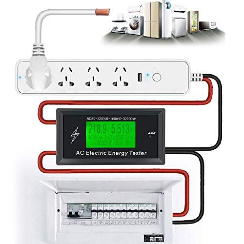 AT3010 AC50~320V 100A 3KKW Phone App AC Meters Digital Voltage Meters Indicator Power Energy Meter Voltmeter Ammeter Current Amps Volt Wattmeter Tester - Bluetooth Version