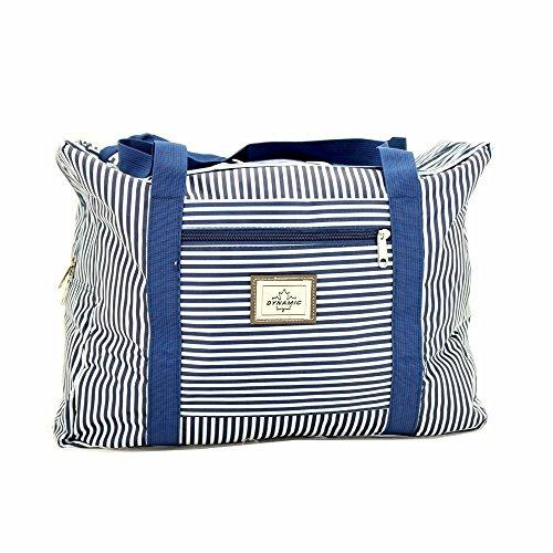IWEA Strandtasche Marine Badetasche Shopper Einkaufstasche Reisetasche Freizeittasche Blau/Weiß IW071 2I9VYD1f