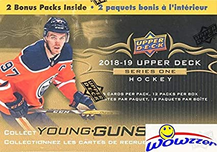 8099c8e42c1 2018/19 Upper Deck Series 1 NHL Hockey EXCLUSIVE HUGE Factory Sealed  Blaster Box with 12 ...