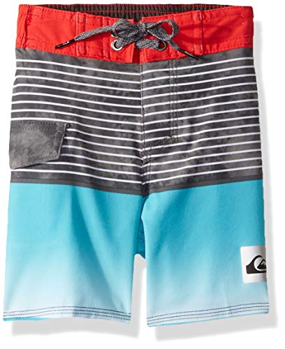 - Quiksilver Little Highline Slab BOY 14 Boardshort Swim Trunk, Hibiscus, 6