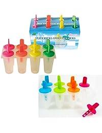 Buy 8 Freezer Ice Pop Maker Mold Popsicle Yogurt Ice Cream Frozen Pops 2 Styles New reviews