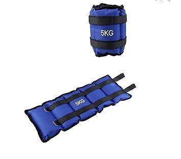 Pack de dos pesas de 5 Kilos para tobillos y/o muñecas para correr o gimnasio: Amazon.es: Deportes y aire libre
