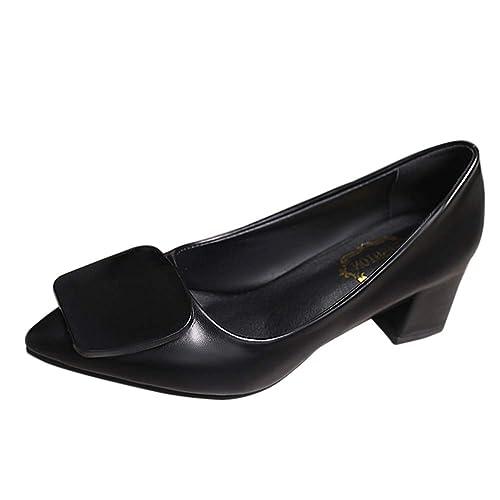 Ancho Trabajo Tacón Zapatos Gtagain De Mujeres Puntera Mujer xqZYSv 78af0f6be552