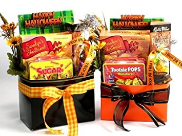 Halloween Gift Basket Ideas For Adults.Amazon Com Gift Basket Drop Shipping Sptr Spook Tacular Treats