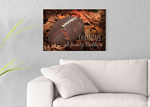 Football - A Family Tradition Printed on 24x16 Canvas Wall Art by Pennylane
