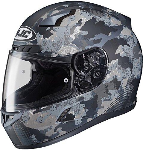 (HJC CL-17 Void Matte Black/Camo Full Face Helmet - X-Large )