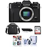 Fujifilm X-T20 24.3MP Mirrorless Digital Camera UHD 4K Video, Panorama, Black - Bundle camera Case, 16GB SDHC Card, Cleaning Kit, Card Reader, Software Package