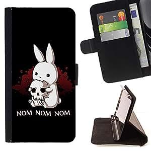 Momo Phone Case / Flip Funda de Cuero Case Cover - Conejo Terror Skull Pirate Arte Cita Nom Nom - Sony Xperia Z2 D6502
