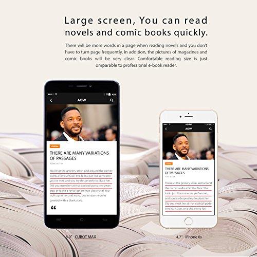 CUBOT Max - Smartphone Libre 4G Android 6.0, (Pantalla táctil 6.0
