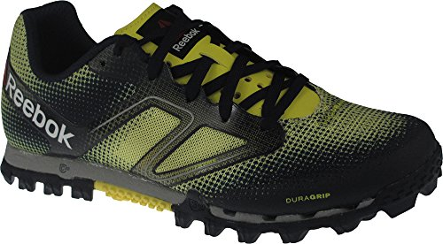 Reebok All Terrain Super Womens Running Shoe 9.5 Yellow-Navy-Steel