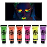 Best Glow In The Dark Body Paints - Ownest 6 Tubes UV Blacklight Glow Face Review