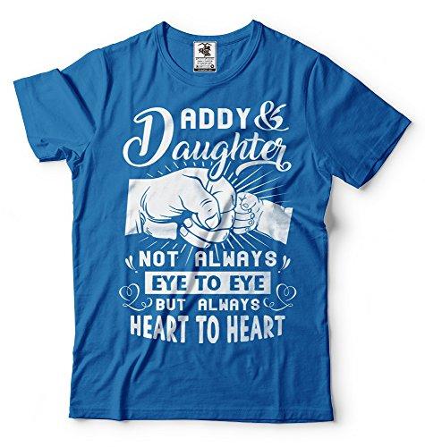 Shirt Tee Il Silk Da Uomo Papà shirt Figlia Compleanno Padre Blu Road Regalo Camicia T Per E Tees qUw46O
