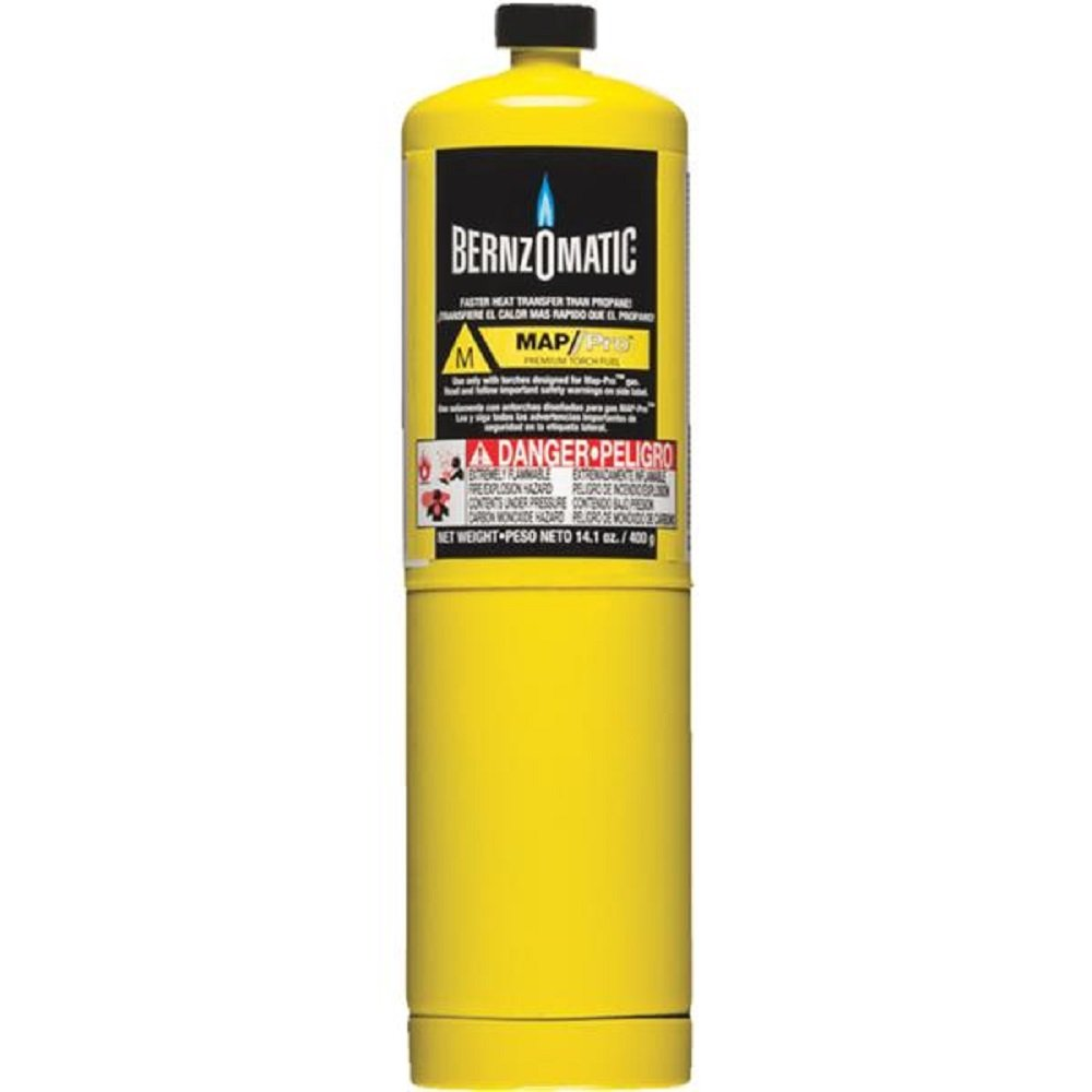 WORTHINGTON CYLINDER 332585 14.1 oz Pre-Filled MAP-Pro Gas Torch Style Cylinder Standard Plumbing Supply