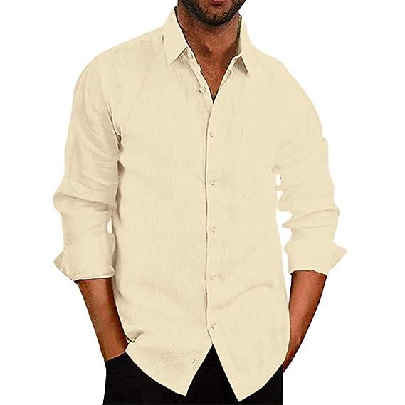 Teresamoon - Camiseta de Manga Larga para Hombre, Mezcla de ...
