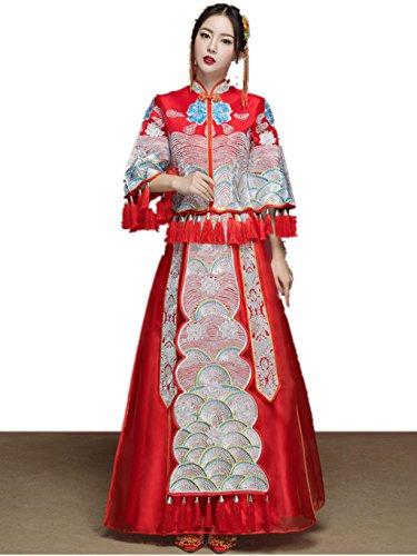 Show Wo Dress Chinese Wedding Dress Wedding Cheongsam Tang Suits by YY-Bride Wedding Cheongsam