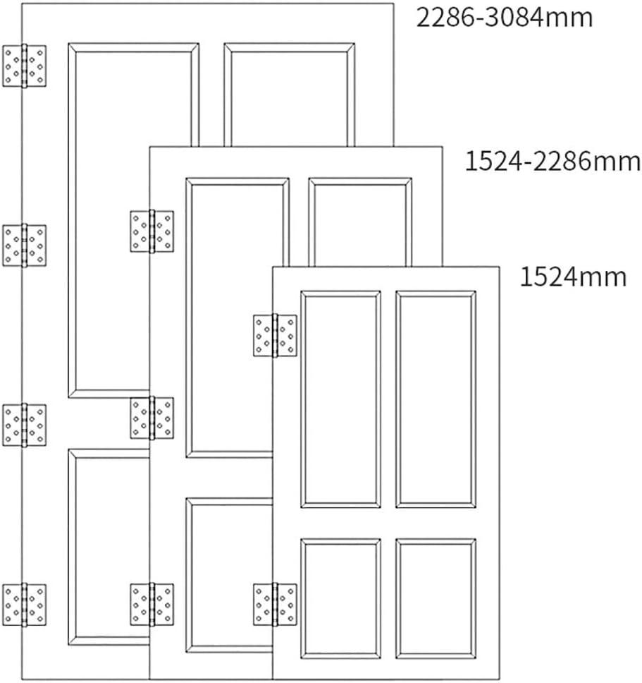 Color : Silver, Size : 4 pcs GEQWE Door Hinge 4 Pcs 4x3 Inch Mute Folding Butt Hinges Connectors Home Furniture Door Hinge Cabinet Gate Closet Hinge