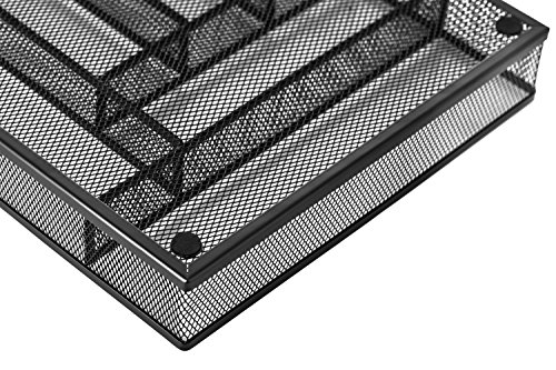Halter Steel Mesh Large Silverware Cutlery Tray Organizer with No-Slip Foam Feet - Kitchen Organization / Silverware Storage - 16'' X 11.25'' X 2'' - 2 Pack by Halter (Image #4)