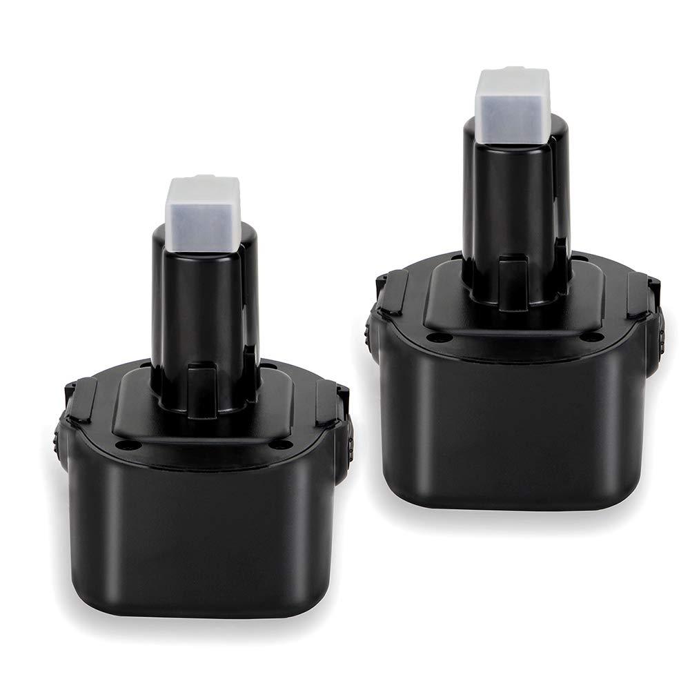 9.6V 3600mAh Ni-MH Replace for dewalt 9.6 Volt battery dw9062 Dw9061 DW926 DC750KA DW955K DW955 DW926K-2 DW926K DW902 DW050 DE9062 DE9061 DE9036 DW955K-2 DW050K 2 Pack 3.6Ah replacement battery