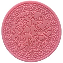 Round Filigree Lacework Bird on a Blossom Tree Sugarcraft icing Lace Mould Cake Cupcake Decoration Tool Cookie Pastry Fondant Silicone Mold ( 304 ) Diametre 12cm by FUNSHOWCASE