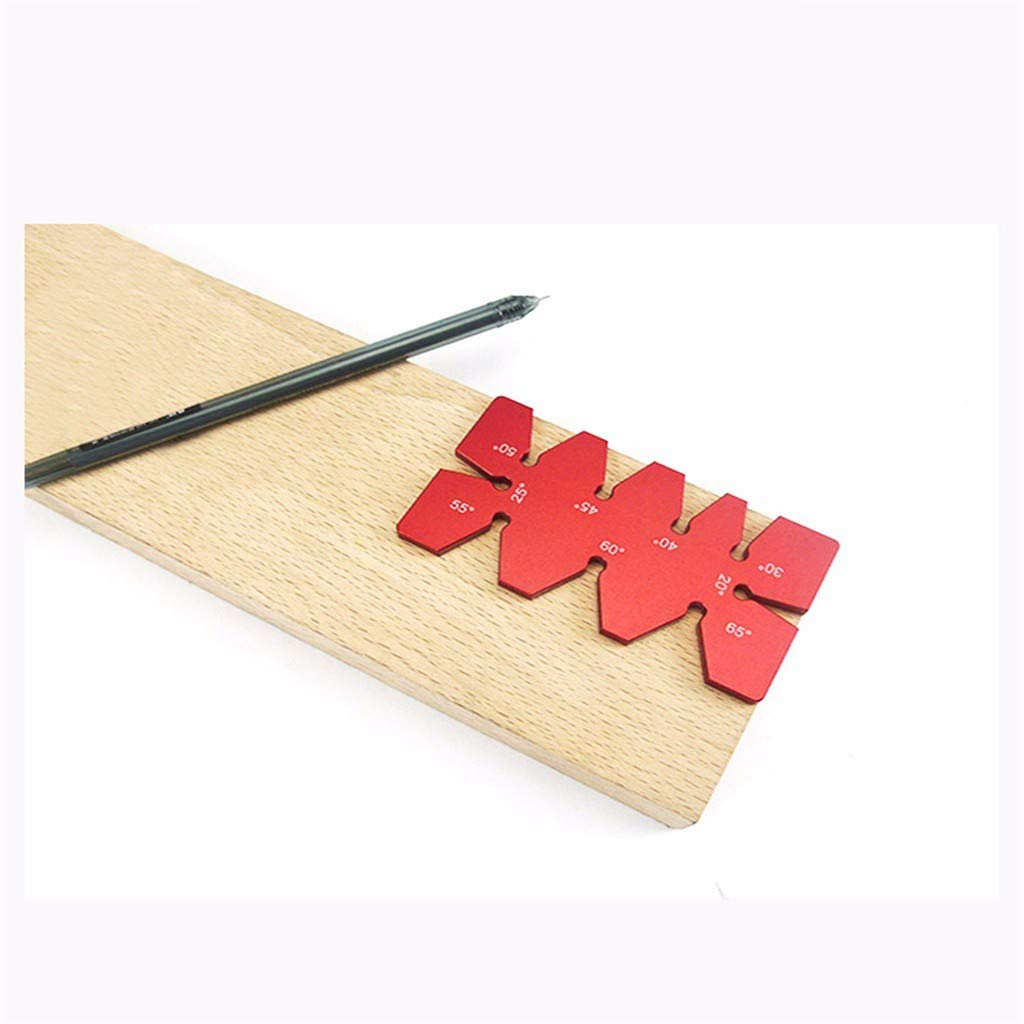 Barlingrock Woodworking Angle Ruler Angle Gauge Angle Template Ruler for Woodworking